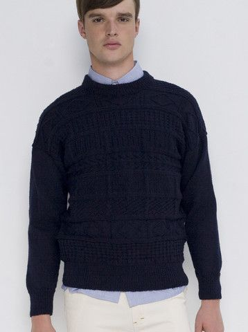 Gansey Hand Knitted Sweater Navy