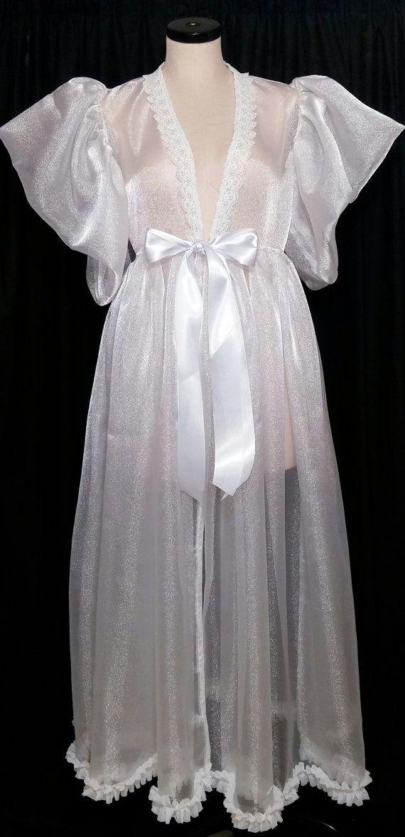 Organza Peignoir Sheer Robe Dressing Gown CUSTOM Made to Order ...