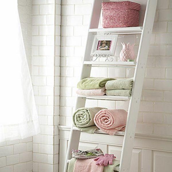 Idea decorativa per il bagno shabby chic pinterest for Scaletta bagno ikea