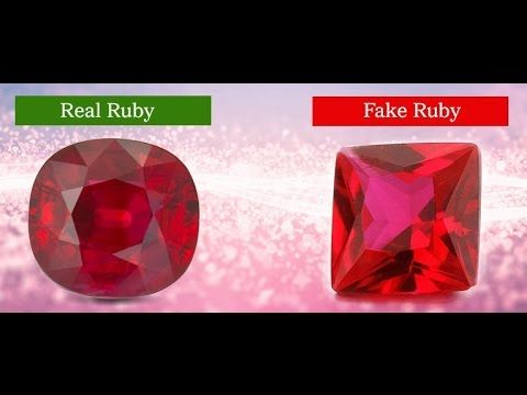 Steps To Identify Real Ruby Gemstone Ruby Gemstone Gemstones Crystal Cave