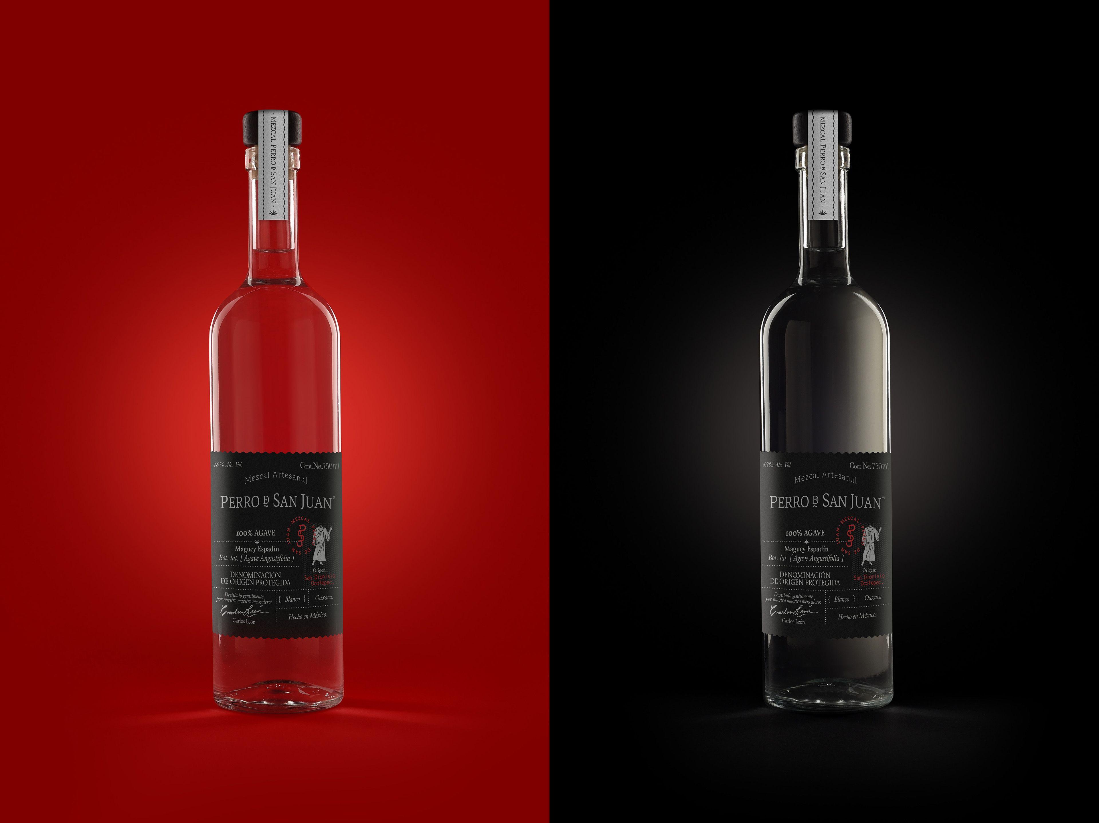 Perro De San Juan Mezcal Wine Bottle Vodka Bottle Rose Wine Bottle