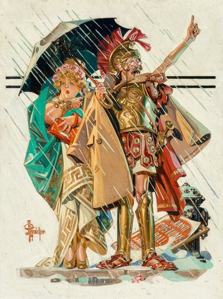 Fine Art - Painting, American:Modern  (1900 1949)  , Joseph Christian Leyendecker (American, 1874-1951). To theVanquished, Saturday Evening Post cover, March 10, 1934. Oil...