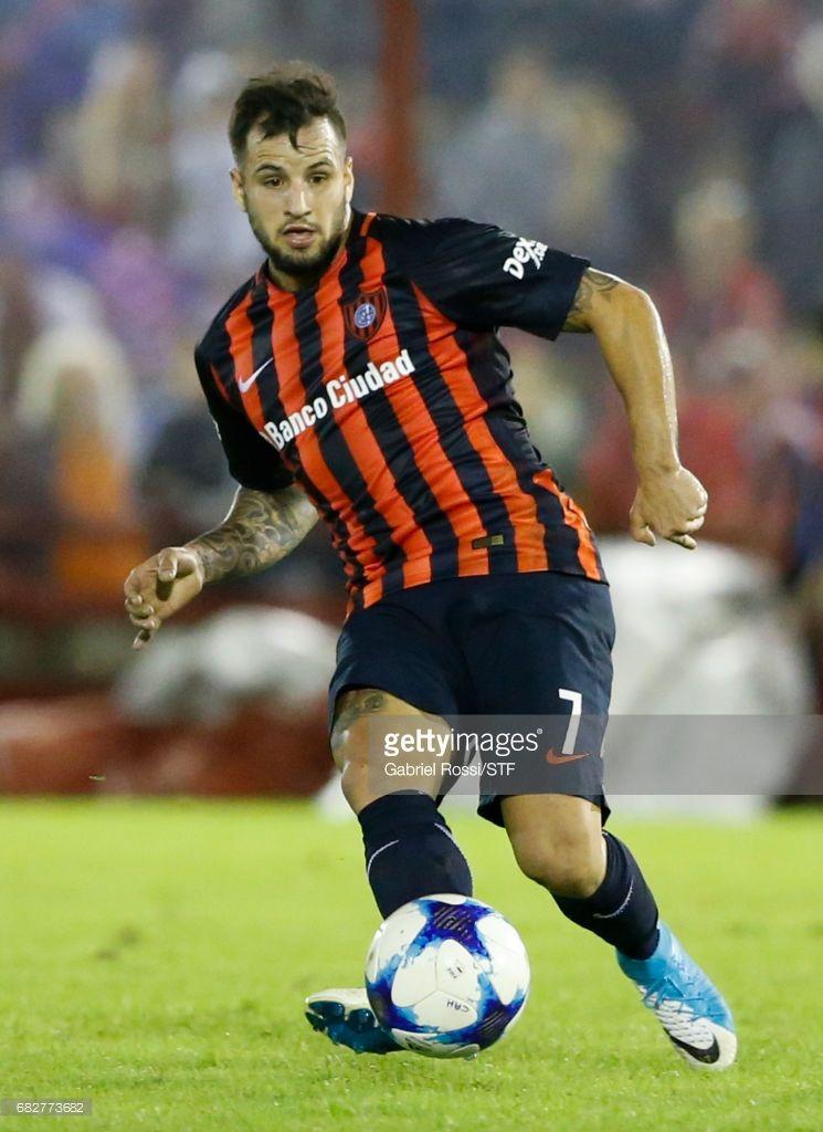 Franco Mussis of San Lorenzo kicks the ball during a match between Huracan  and San Lorenzo 6e4a9887666e1