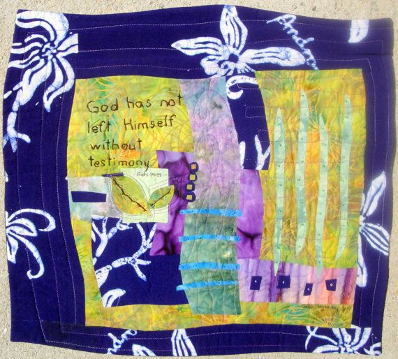 Testimony Quilted Wall Hanging by juliebagamary on Etsy, $225.00 ...