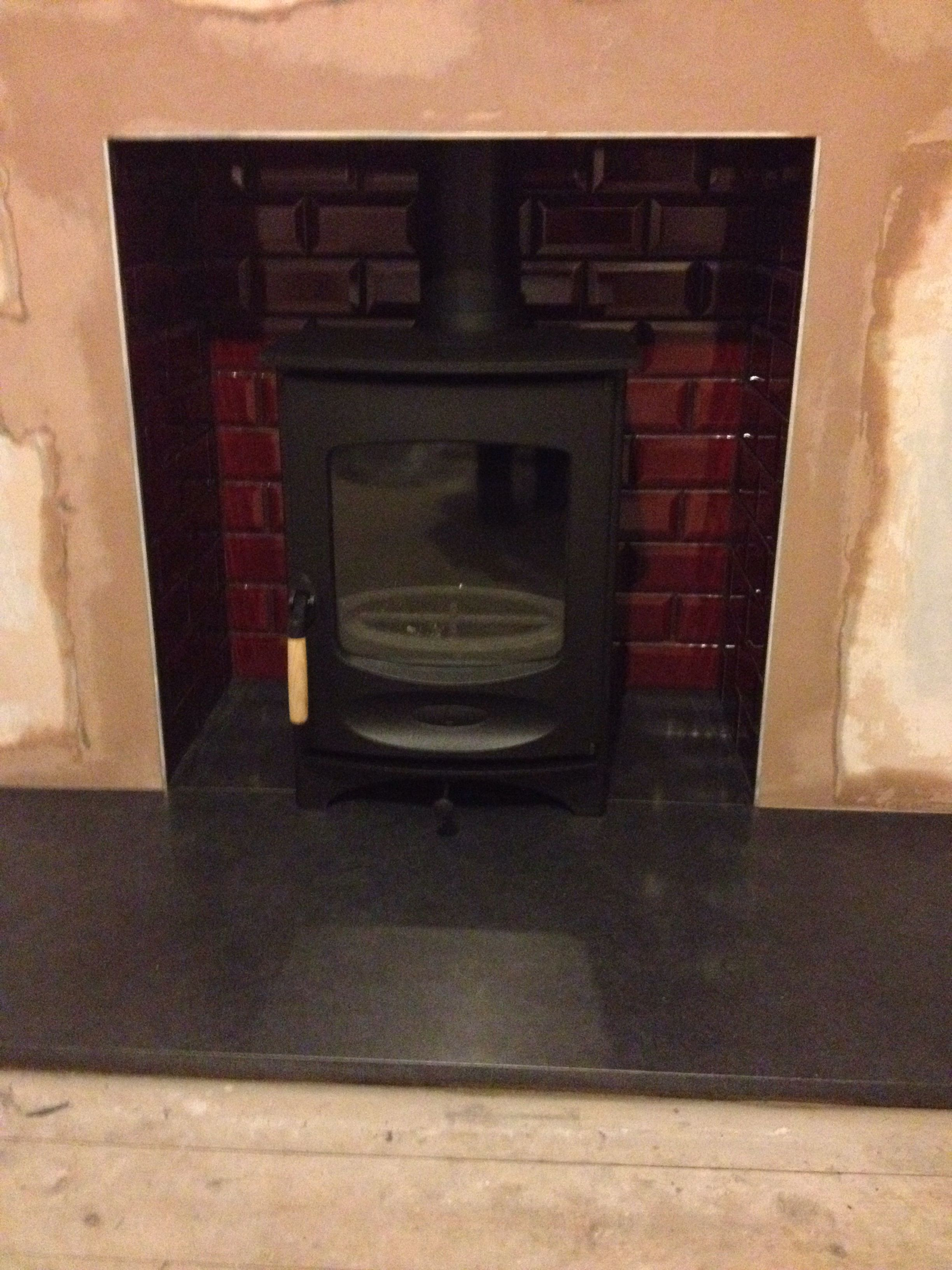 Charnwood C4 Stove Red Tiles From Fired Earth S Metropolitan