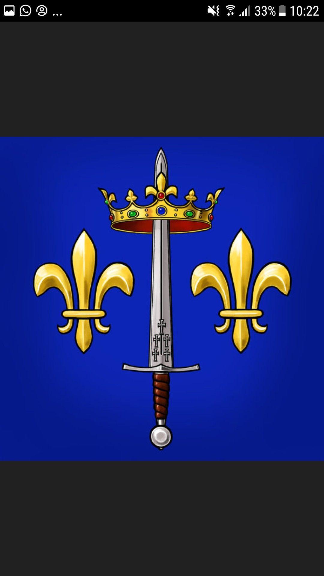 Escudo de armas de Juana de Arco   Banderas Presidenciales ...