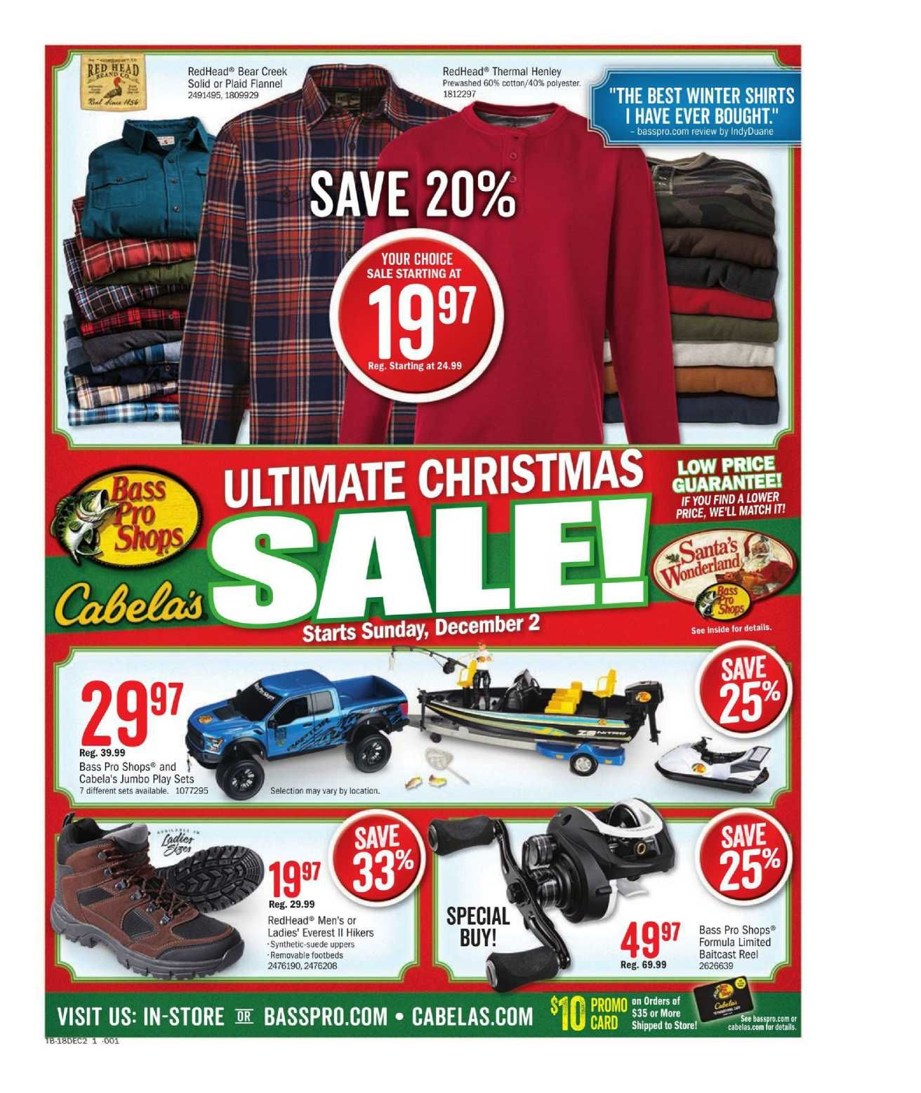 Cabela's Catalog Store Sale Flyer January 11 - 27, 2019 | Weekly Ad