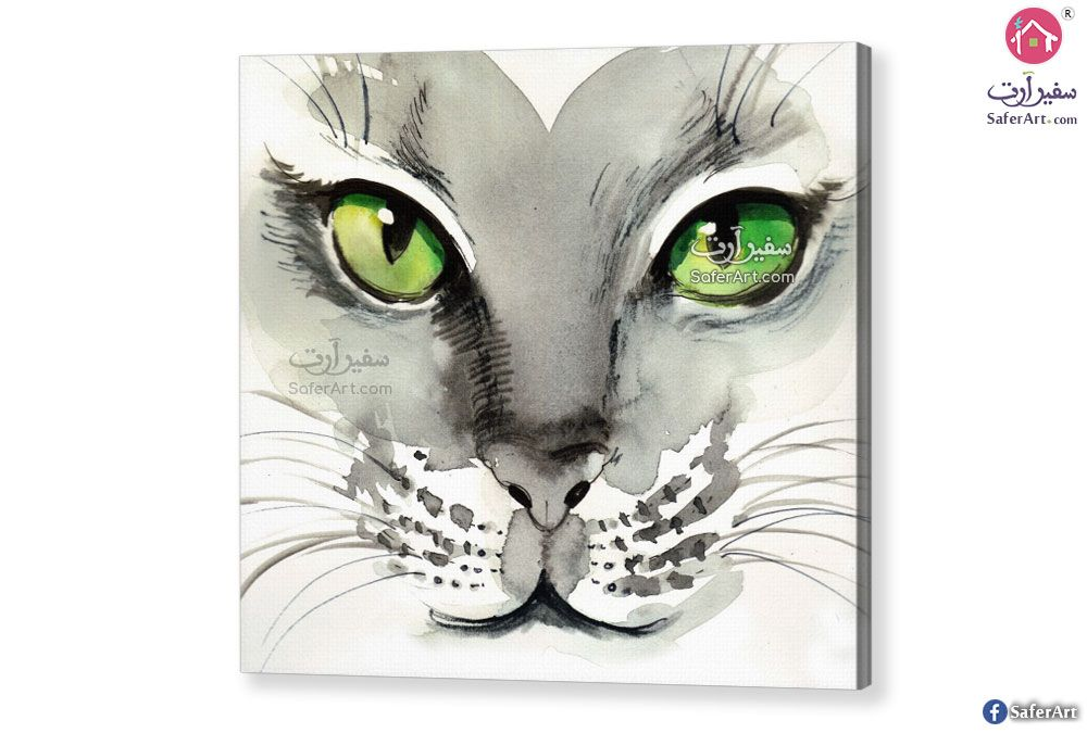 لوحه حائط قطه سفير ارت للديكور Cat Art Art Cats