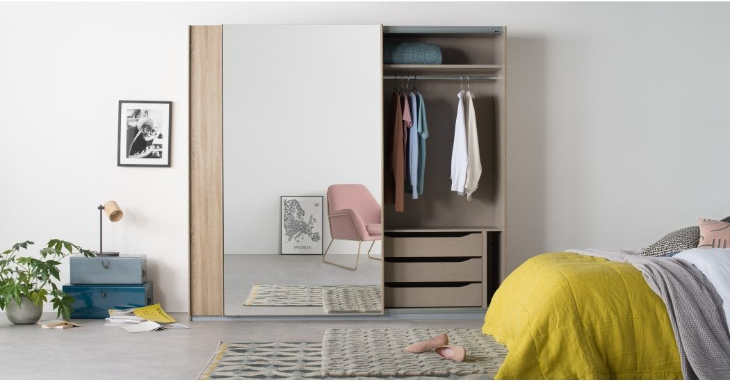 Malix door cm sliding wardrobe oak frame and mirror doors wardrobes also made  rh pinterest