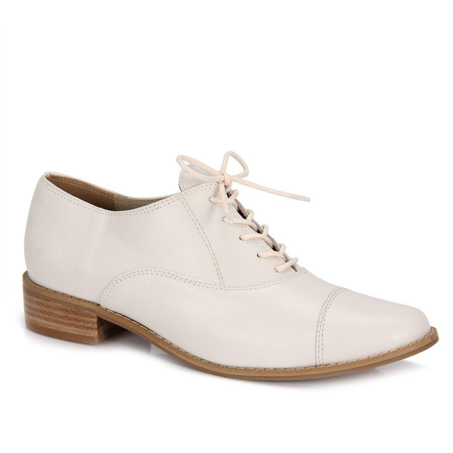 Sapato Oxford Feminino Desmond 10001N - Gelo - Passarela.com