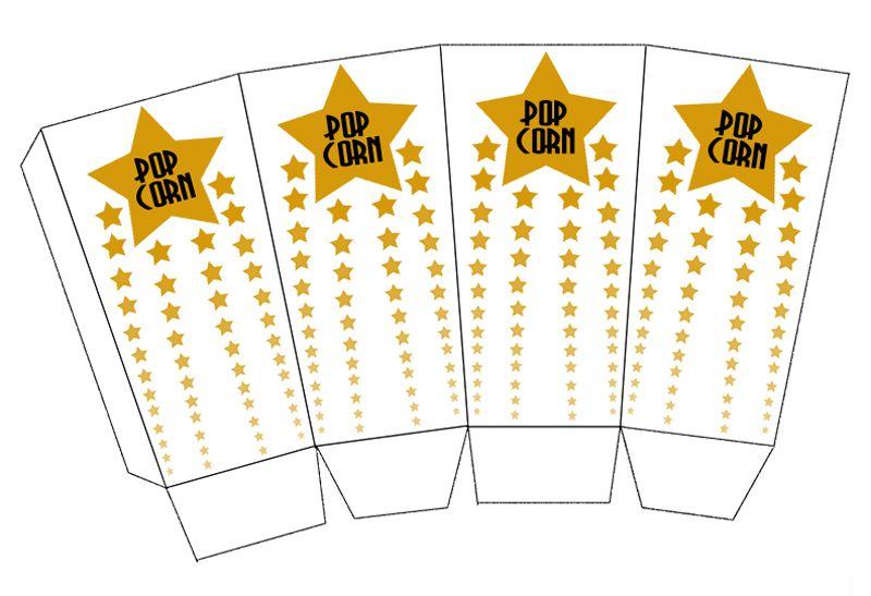 DIY Oscars Popcorn Box Printables | Box templates ...