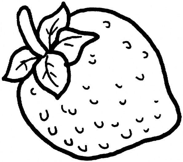 Strawberry Color Page To Use As An Embroidery Pattern Coloring