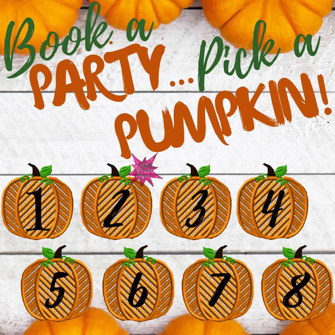 book a party pick a pumpkin interactive post for facebook vip group