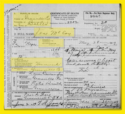 part 1: how do you research using death certificates? - columbia ...