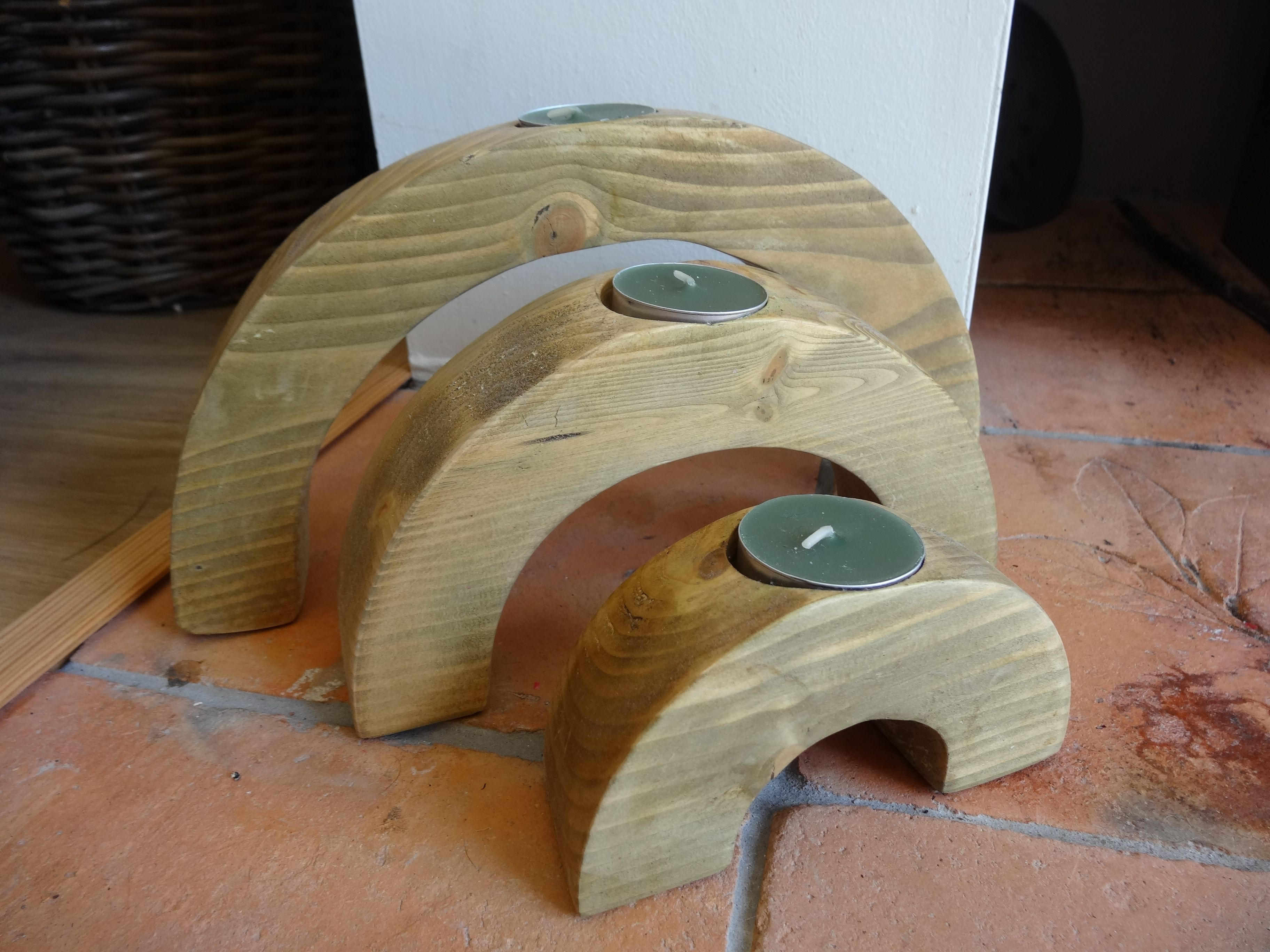Arching Candle Holders, Made By Joe Lancaster