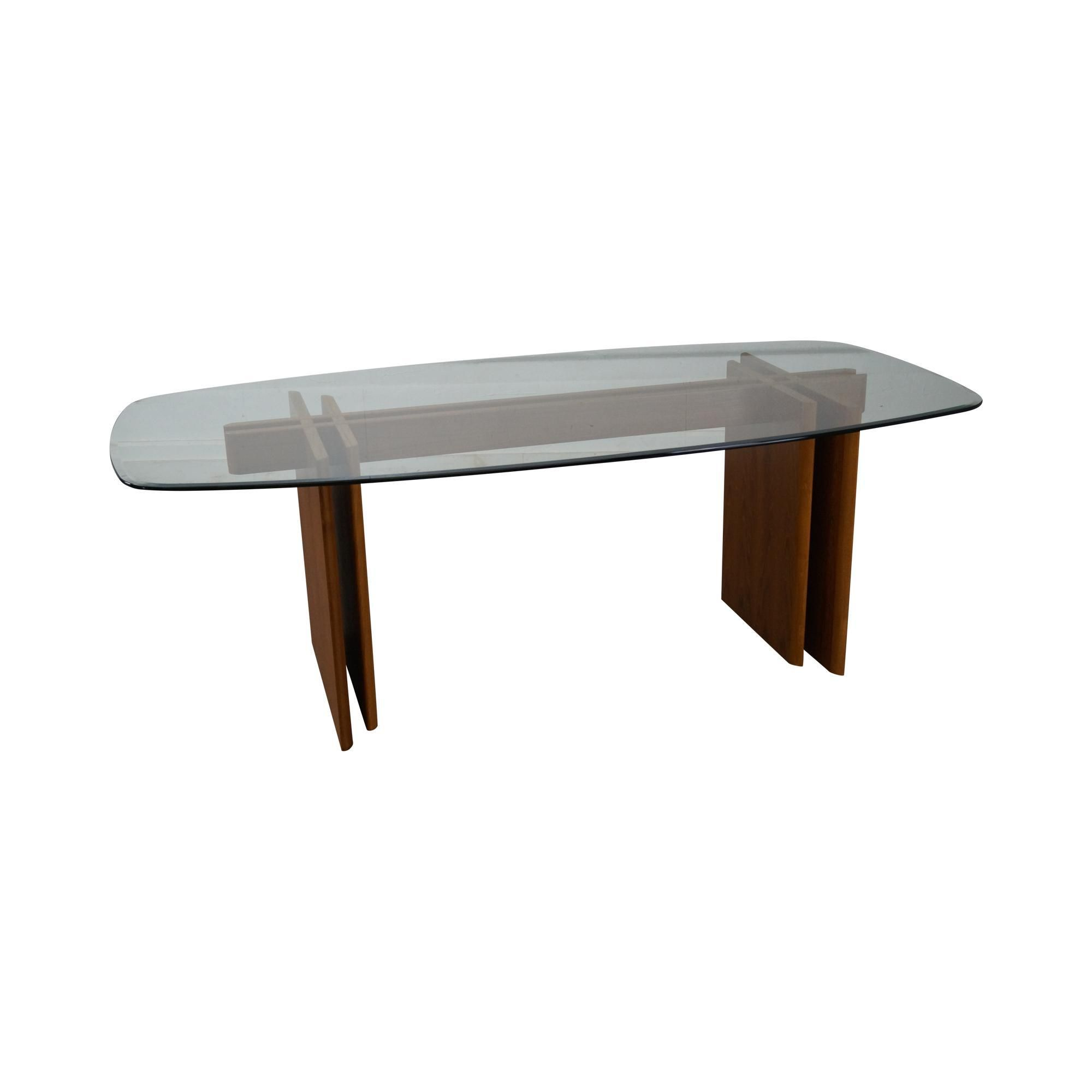 Gustav Gaarde Contemporary Danish Modern Teak Glass Dining Table Muebles