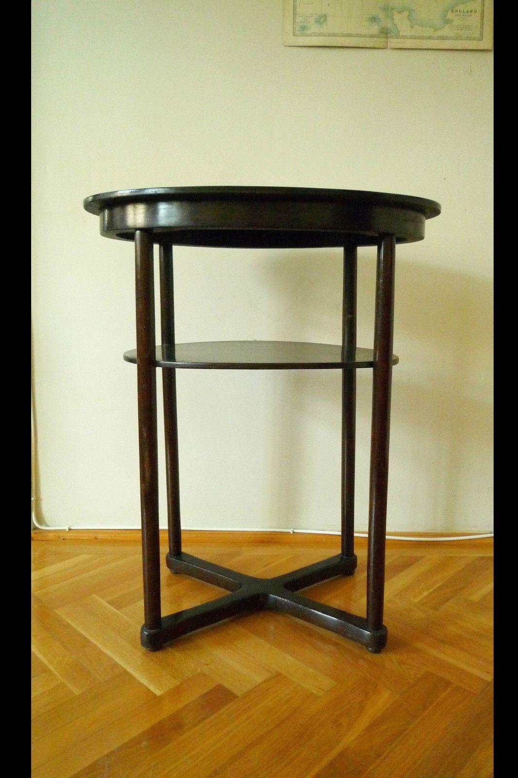 antiker Josef Hoffmann ovaler Tisch Beistelltisch Thonet Mundus Bugholztisch | eBay