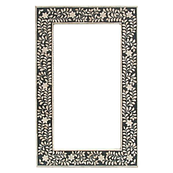 mirror zanui. floral black mirror by nf living | zanui