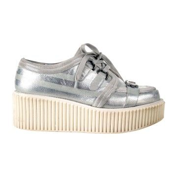 416d3aef9cf Chanel sneakers - us 10 - 40 - silver platform creepers shoes cc ...