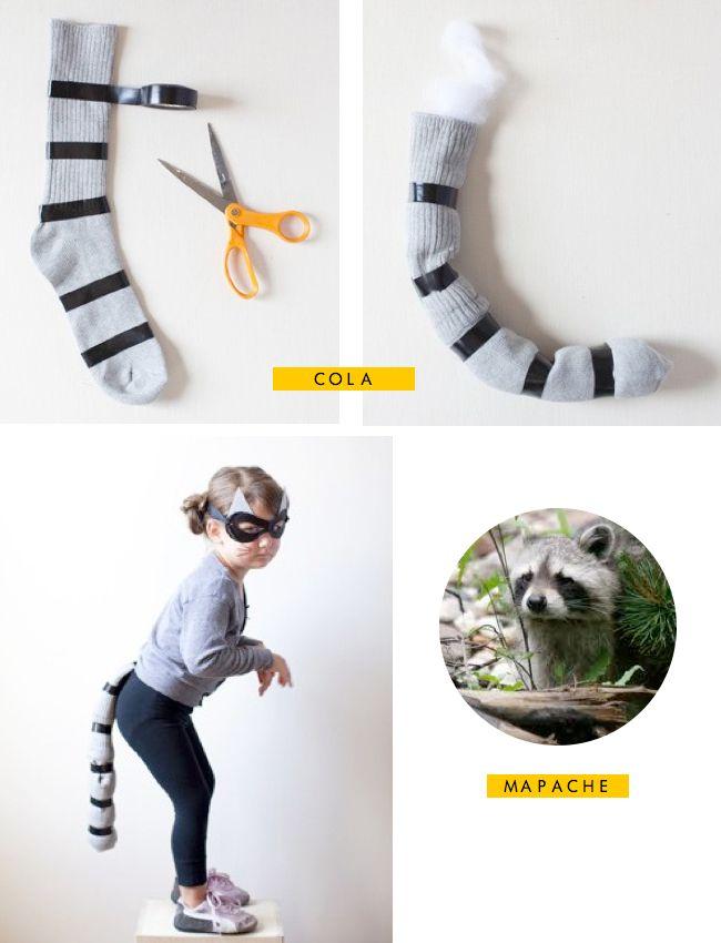 Made with lof: DIY - Disfraz de mapache ¡¡Carnaval!! | Caretas y ...
