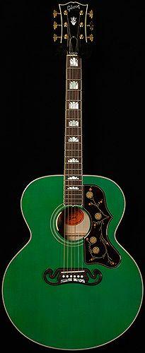 Limited Edition Sj 200 Sea Green Super Jumbo Gibson Guitars Acoustics Acoustic Guitar Guitar Cool Electric Guitars