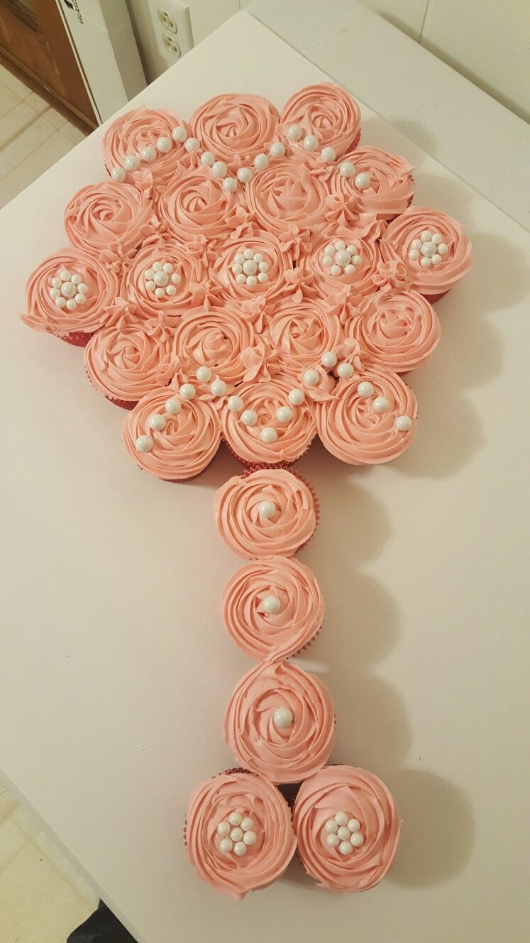 Baby rattle cupcake pull apart cake baby rattle cupcakes
