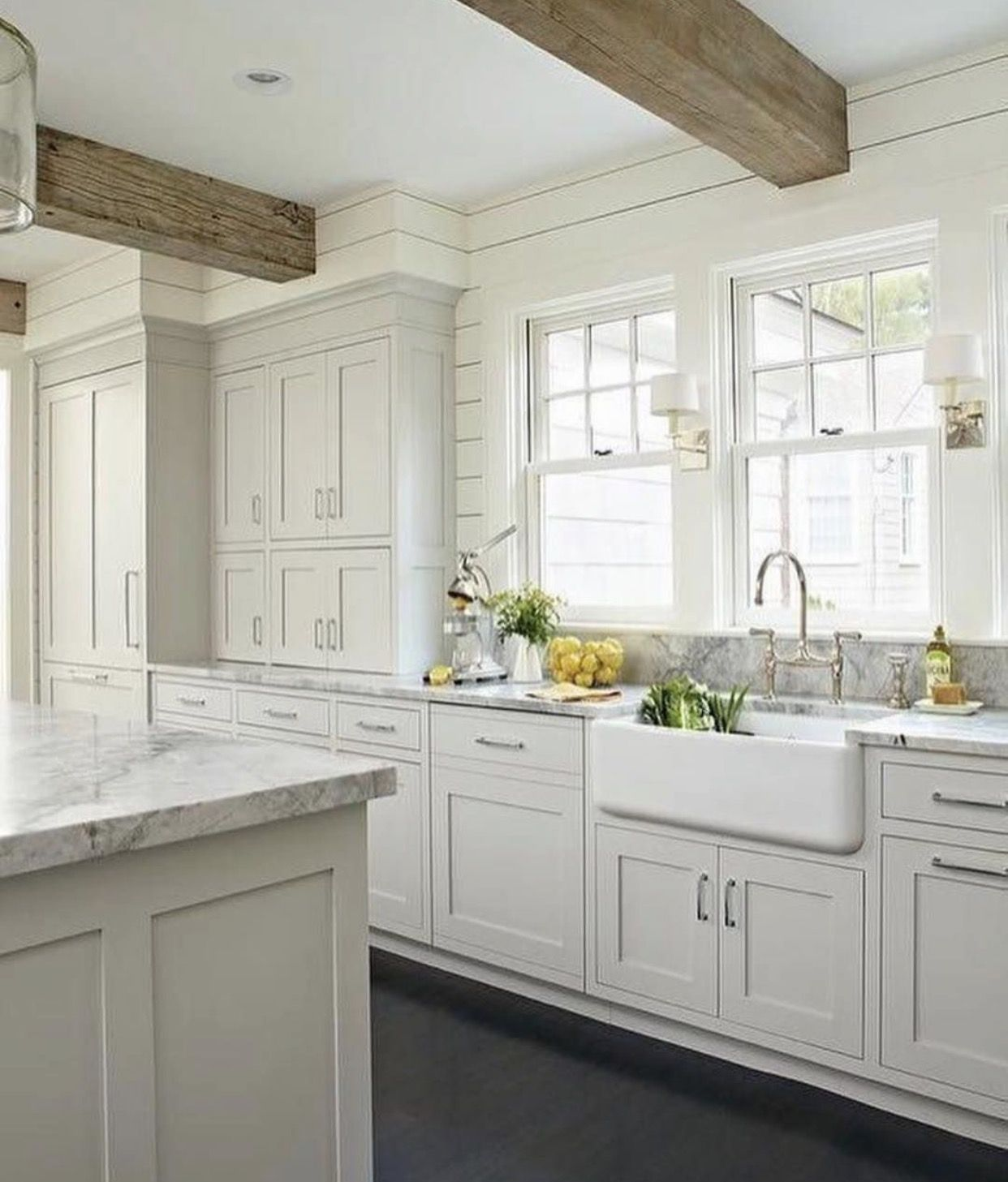 kitchen light gray cabinets white planked walls and beams gray white kitchen light grey on farmhouse kitchen gray id=97859