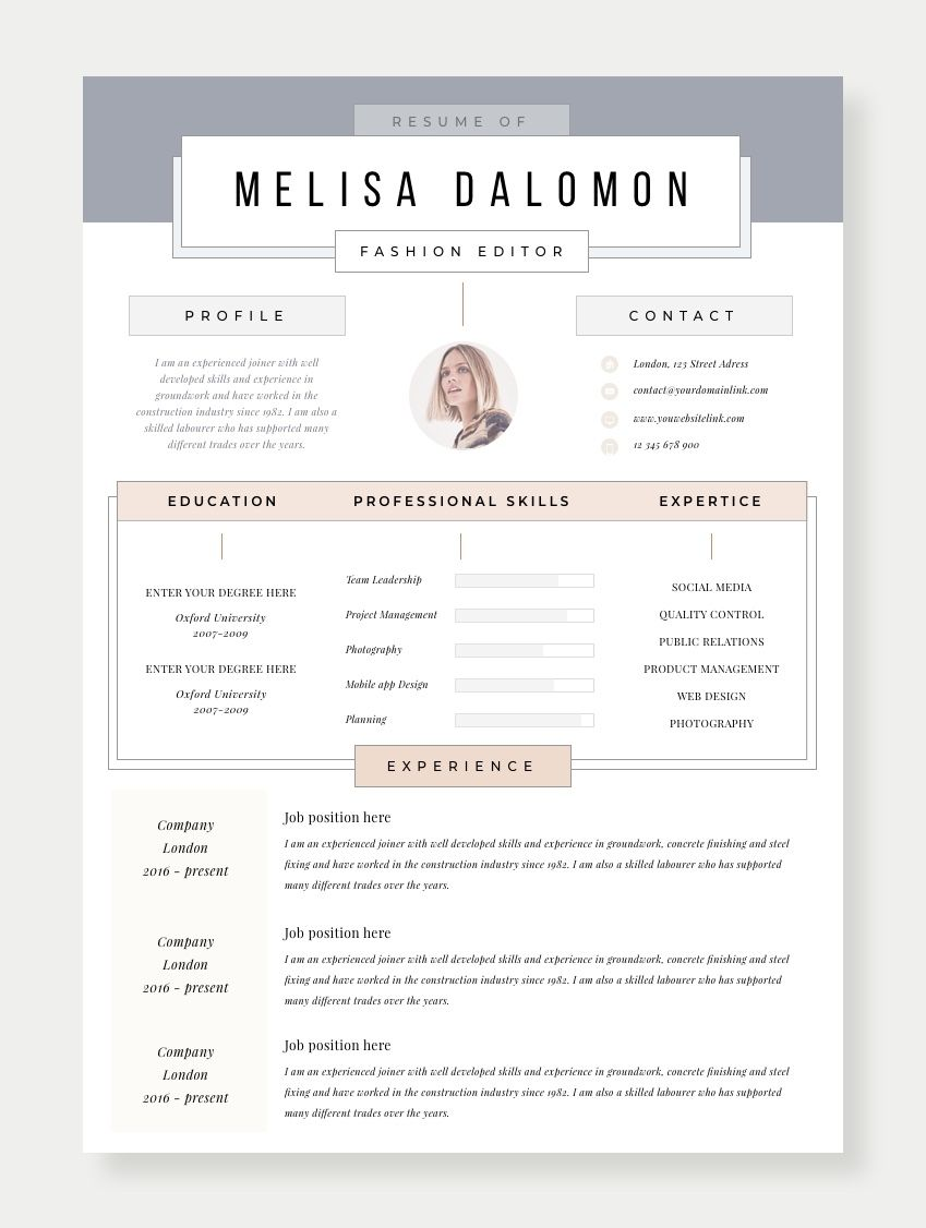 Pin By Ruth Froese On Graphic Design Resume Design Creative Resume Template Professional Resume Design Template