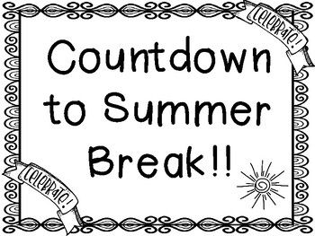 Summer Countdown   Countdown, Day countdown, Summer