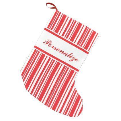 candy cane stripes small christmas stocking holidays diy custom design cyo holiday family