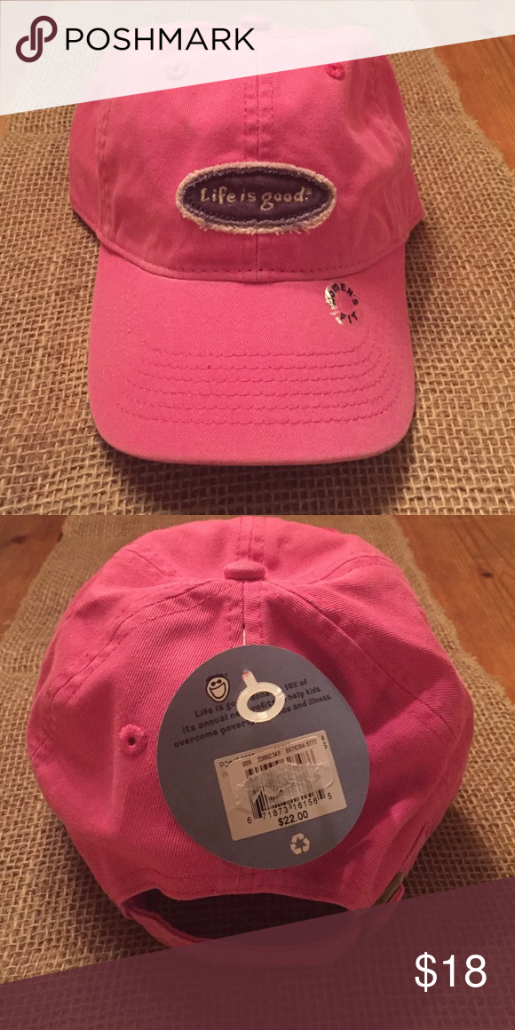 Women s Life is Good Hat NWTs Super cute pink baseball hat! Perfect for hot  summer 33217e430