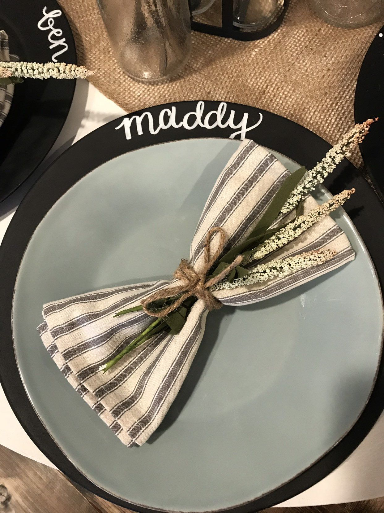 Rustic Chalkboard Chargers