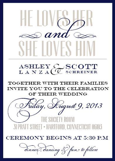 Glenmore park calgary wedding invitations