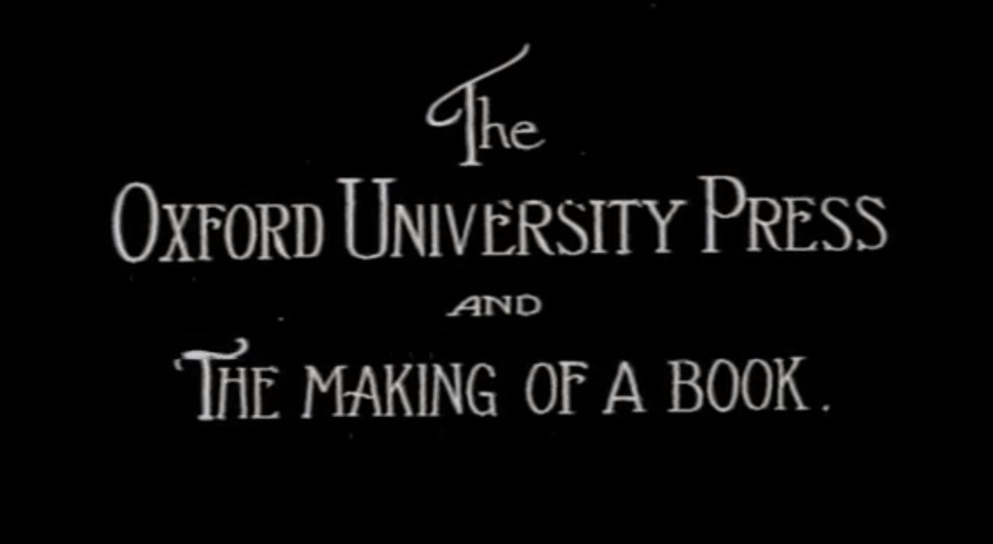 Vintage Film Shows How the Oxford English Dictionary Was