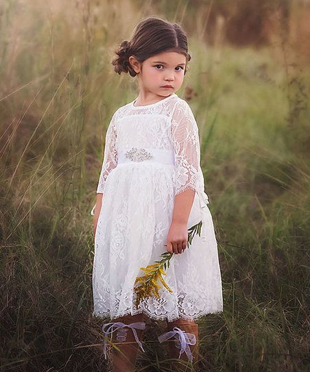 6c8c6ae7ce Trish Scully Child White Lace Bella Estella Dress - Infant