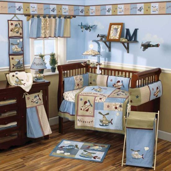 Cute Baby Crib Bedding Sets And Decorations Ideas   Airplanes (Boy)