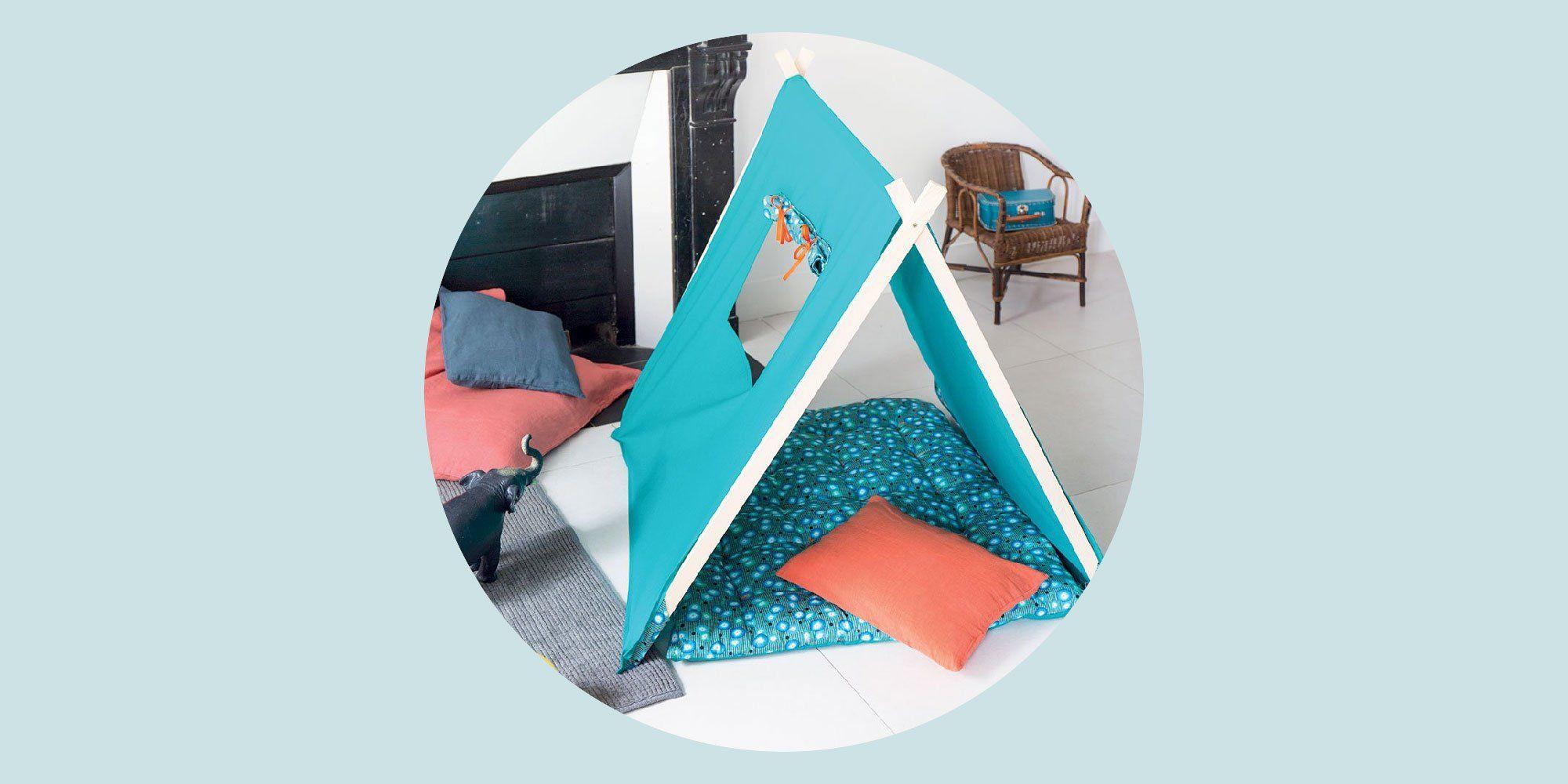 fabriquer un tipi pour enfant deco. Black Bedroom Furniture Sets. Home Design Ideas