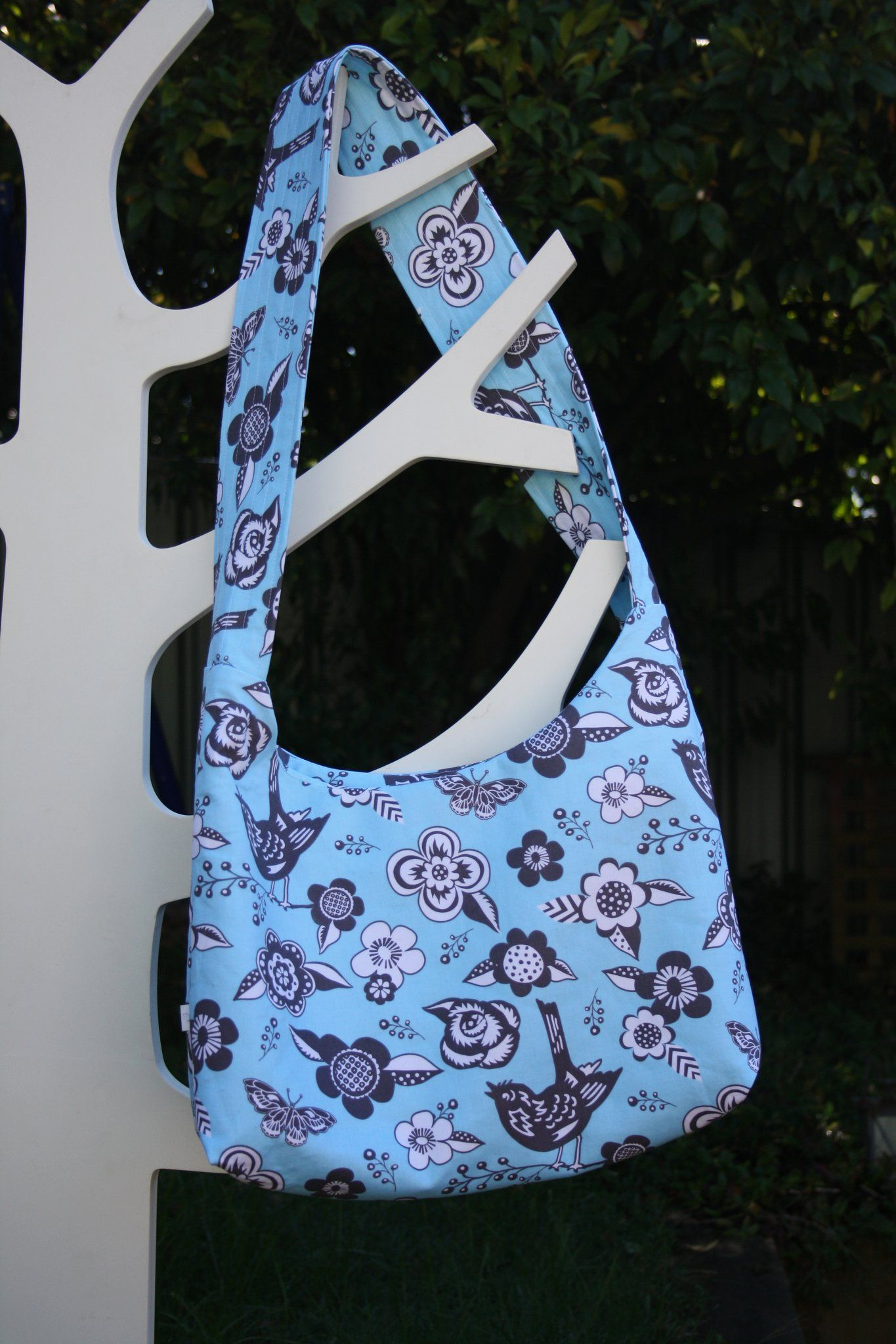 Woodcut Garden Hobo Bag.. out the door x & My latest creation... Woodcut Garden Hobo Bag.. out the door x ...