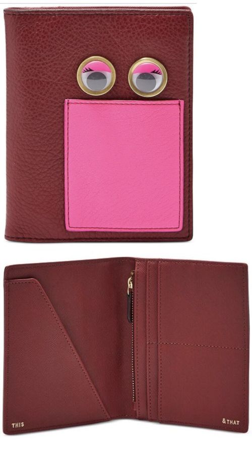 ee0a889de4f4 Passport Holders 169288: Fossil Passport Eyes Holder-Red-One Size -> BUY IT  NOW ONLY: $37.5 on eBay!