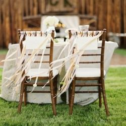 Decorating the back of your wedding chairs is a great idea and this roundup shows why. (via onefabday)