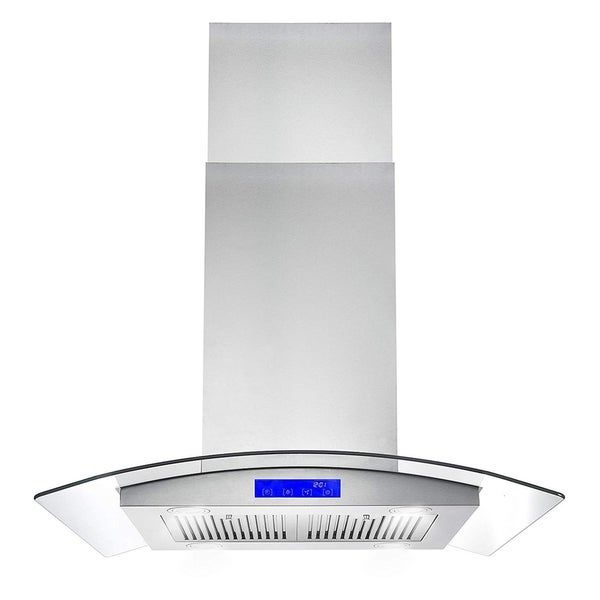 Cosmo 30 in. Ducted Island Range Hood in Stainless Steel ...