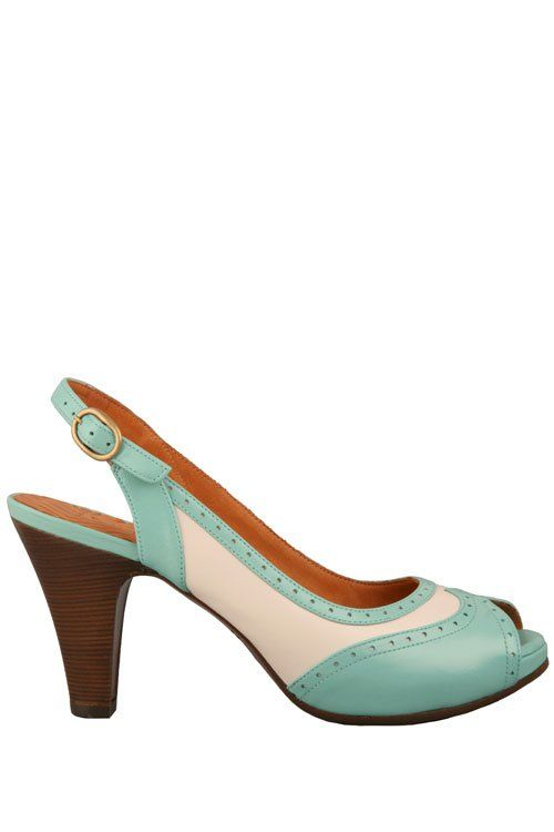 peep toe wing tips in soft leather Chie Mihara - Store