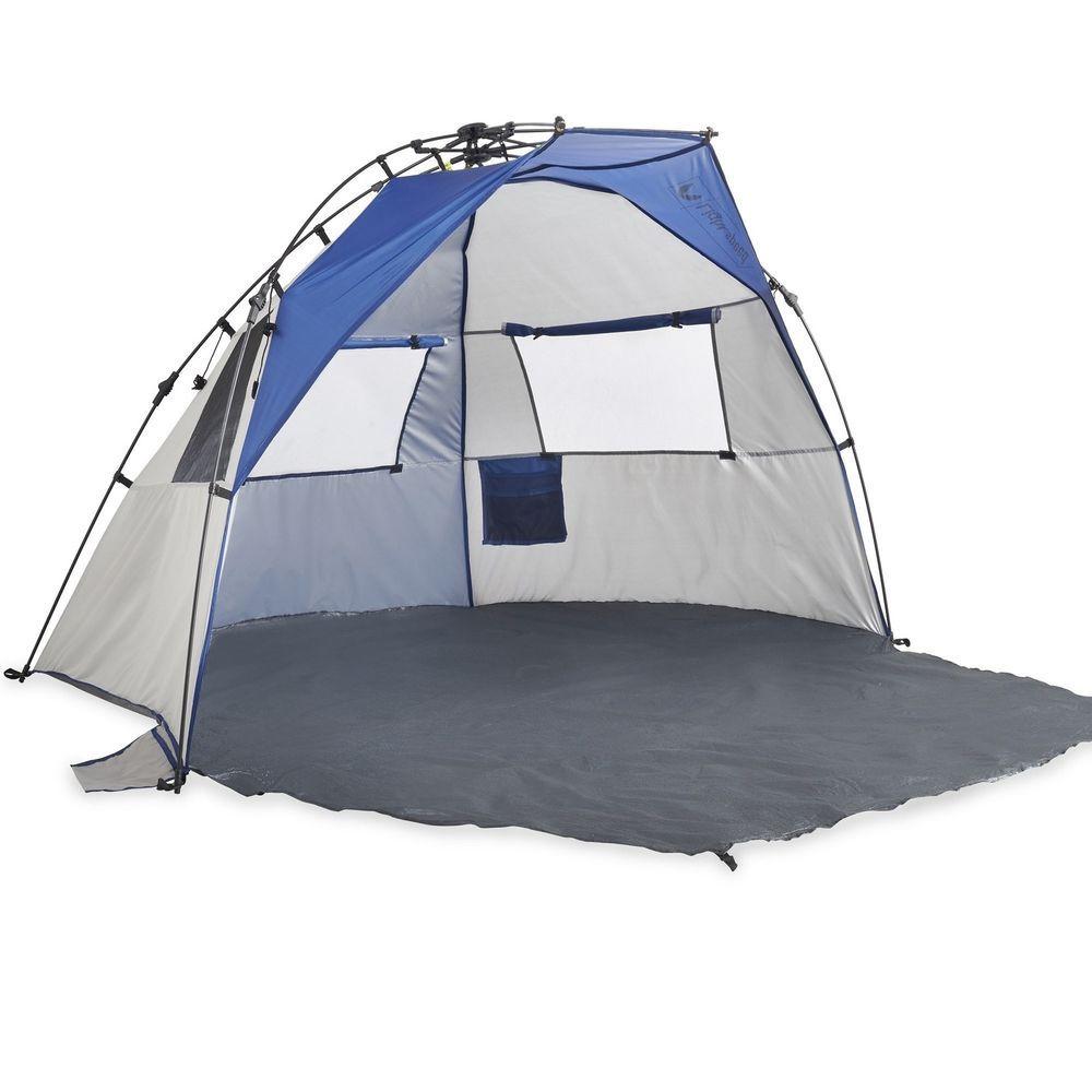 Lightspeed Outdoors Quick Cabana Beach Tent Sun Shelter Blue Camping Backyard