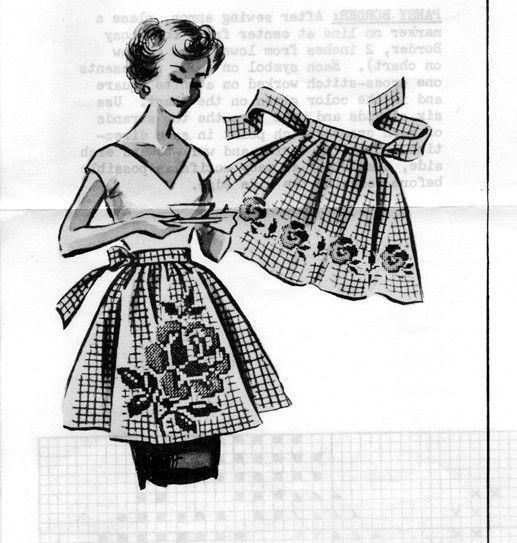 Free Printable Apron Patterns | vintage apron patterns, gingham and ...