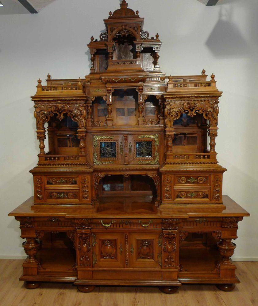 einzigartiges gr nderzeit buffet prunkbuffet neorenaissance um 1880 neo renaissance m bel. Black Bedroom Furniture Sets. Home Design Ideas