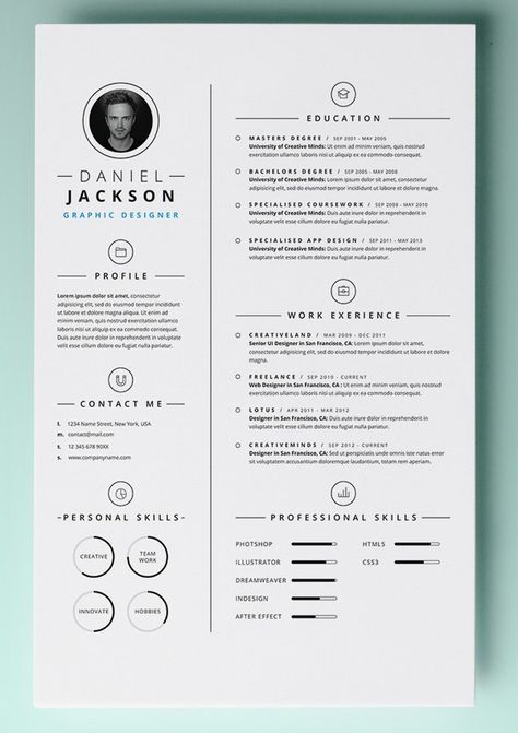 Pin by Inès Sanchez-Martinez on Resume Pinterest Free word - resume template word document