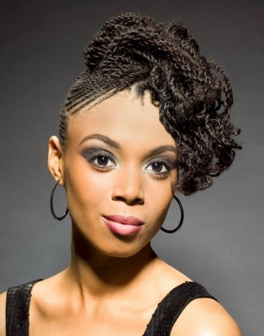 Braided Hairstyles African Women Braid Hairstyles Black Hair