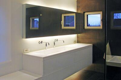 Badkamermeubel Op Maat : Atelier bvba b badkamermeubel op maat fronten in