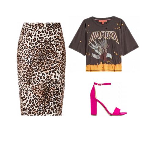 Nieuw Hoe combineer je de rok met luipaardprint? outfit animal print rok YJ-41