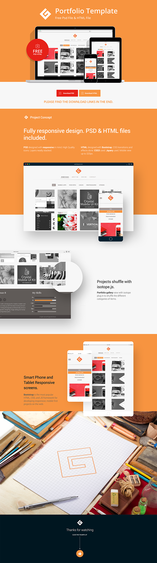 A Free HTML and PSD Template by #Ganesh KrishnanR on #Behance ...